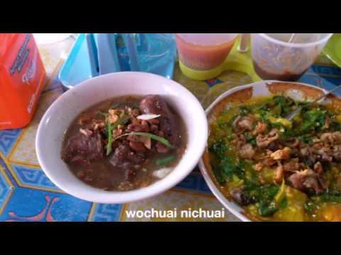 Video Indonesian Street Food   Tinutuan Brenebon Kaki Babi - makanan khas manado sulawesi utara