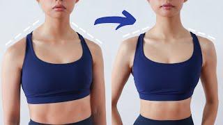 90 DEGREE SHOULDERS WORKOUT | Fix Rounded Shoulders & Hunchback in 10 min ~ Emi