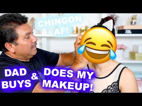 DAD BUYS & DOES MY MAKEUP CHALLENGE | BEAUTYYBIRD