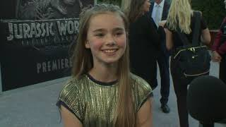 Jurassic Word Fallen Kingdom LA Premiere - Itw Isabella Sermon (Maisie) (official video)