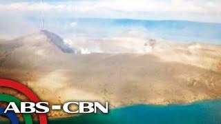 TINGNAN: Itsura ng bunganga ng Bulkang Taal mula sa himpapawid   TV Patrol