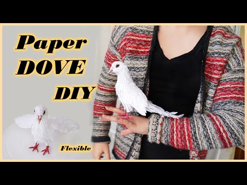 how to make a flexible paper dove bird sculpture by rs. art crafts design