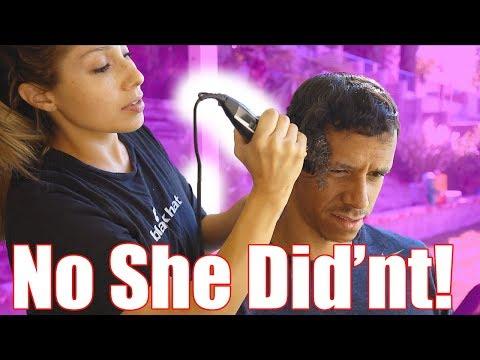 SHE CUT ALL MY HAIR OFF!!??