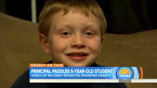 Video: Paddling of 5-year-old by principal reignites debate over spanking
