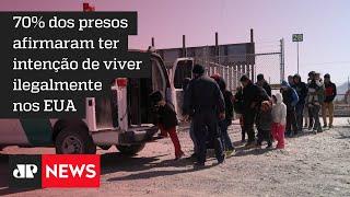 Mais de 2 mil pessoas sem documentos são presas na fronteira com os EUA