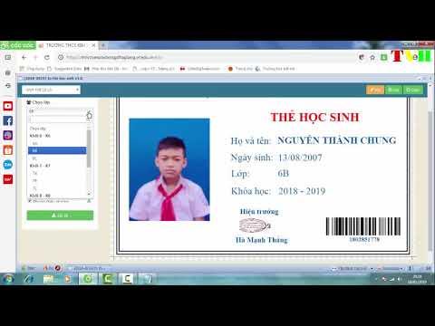 In thẻ học sinh trên VNEDU,  VNEDU mạng giáo dục Việt Nam