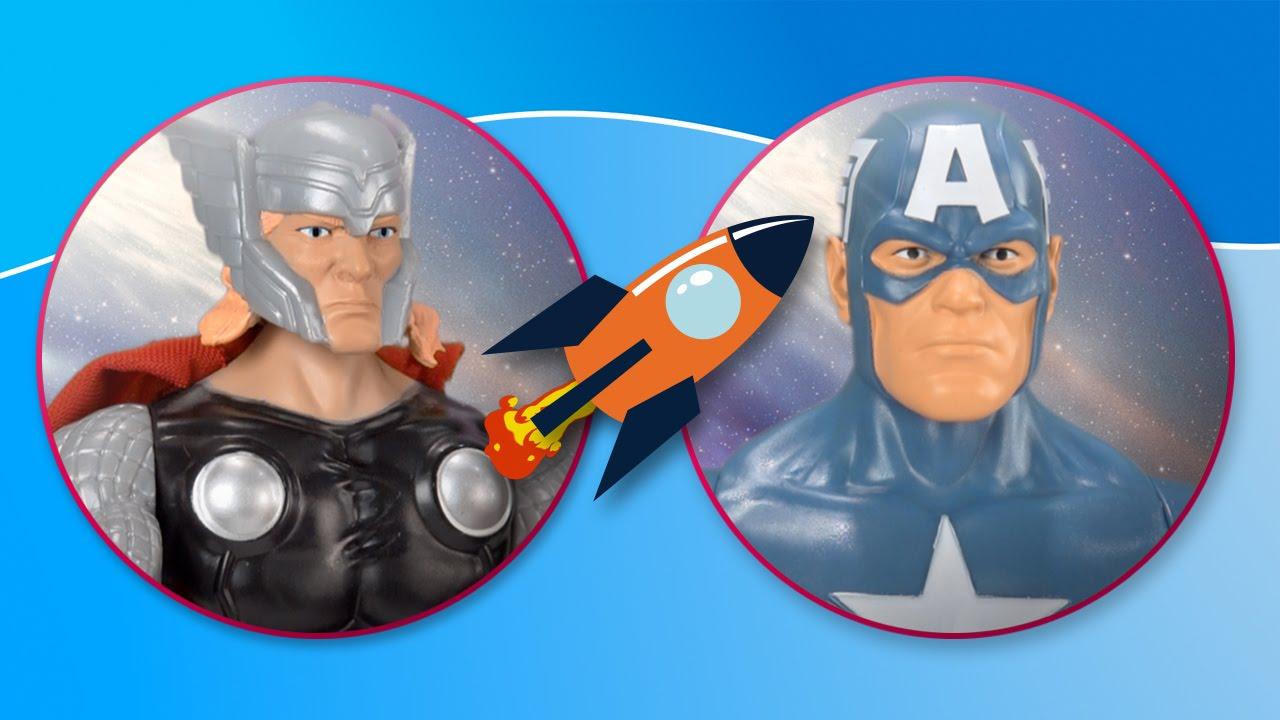 Thor vs Capitán América. The Avengers: la batalla final