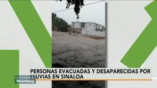 Se maneja la información de que hay 3 desaparecidos por fuertes lluvias en Sinaloa: PC Sinaloa