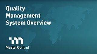 MasterControl Quality Excellence video