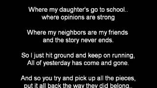 THE STORY NEVER ENDS BY AARON LEWIS KARAOKE VIDEO