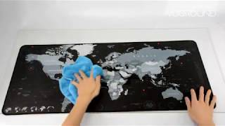 Computer Mousepad Rubber World Map | Shop For Gamers #mousepad #mousepadmurah #mousepadcustom