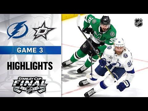 NHL Highlights | SCF, Gm3 Tampa Bay Lightning @ Dallas Stars – Sept. 23, 2020