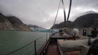 Approaching Dawes Glacier