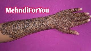 Arabic Mehndi Design For Back Hand Full Hand Arabic