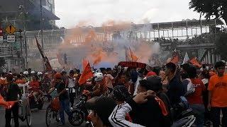 Begini Kemeriahan Karnaval Kemenangan Persija di Kawasan Sarinah, Jakarta Pusat