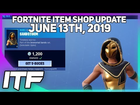 Fortnite Item Shop *NEW* SANDSTORM AND SCIMITAR SET! [June 13th, 2019] (Fortnite Battle Royale) (видео)