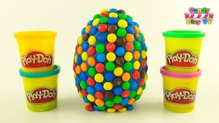 Huge Play Doh M&M's Surprise Eggs With Toys | Disney Mickey & Minnie Mouse | Jelly Animals for Kids