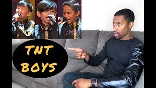 TNT BOYS nails Somebody To Love [ Little Big Shots ] [Reaction]