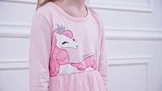 Unicorn Dress For Girls Long Sleeve Kids Fancy Dresses