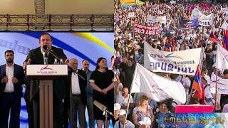 «Մեր սահմանները պետք է պահեն հայ և ռուս զինվորները միասին». Գ.Ծառուկյանի ելույթը հանրահավաքում
