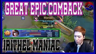 [Irithel] Great Epic Comeback  North America Marksman  Mobile Legends