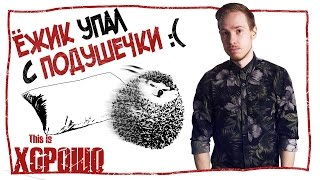 Ёжик упал с подушечки :(