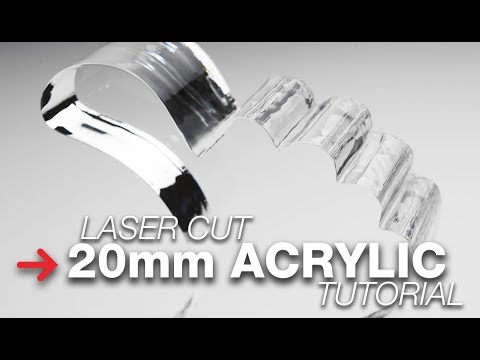 Laser Cutting Thick Acrylic   Acrylic Cutting Tutorial   Trotec