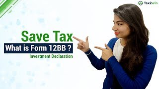 What is Form 12BB ? Income Tax Declaration Form for FY 2018-19