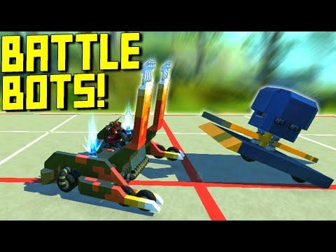 "We Search ""Battlebots"" on the Workshop and Battled Them!  - Scrap Mechanic Workshop Hunters"