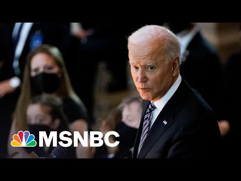 Biden Honors Fallen U.S. Capitol Officer William Evans In Emotional Remarks | MSNBC