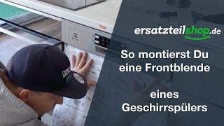 Frontblende Geschirrspüler montieren - Electrolux Möbelfront Geschirrspüler