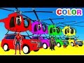 Download Video COLOR CARS Helicopter On BUS & Spiderman Cartoon For Kids With Superheroes For Babies!