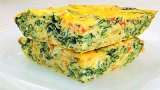 Eggs With Spinach | Easy And Healthy Spinach Egg Casserole | Easy Breakfast