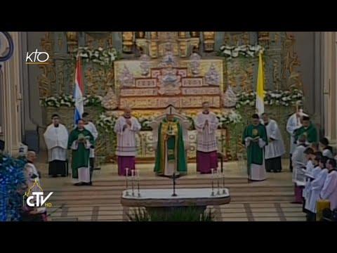 Vêpres avec le Pape en la cathédrale d'Asuncion
