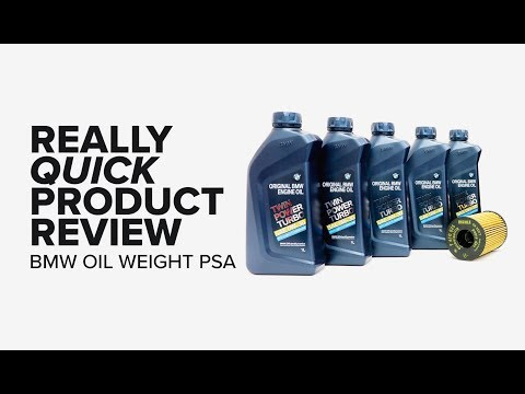 Really Quick Product Review - BMW 5W-30 to 0W-30 Oil Weight Change