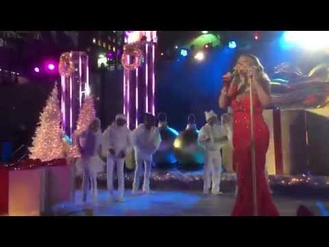 2014 Live Mariah Carey Rockefeller Christmas Tree Lighting With GiaNina Dancing Front Row View
