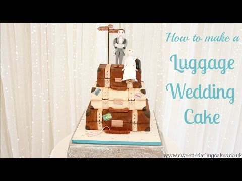 How To Make A Luggage Wedding Cake