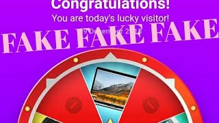 Prize-mania spin is a fake website be alert it's a scam