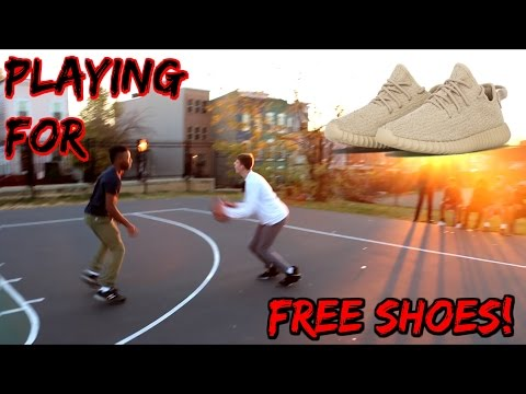 Playing Basketball for FREE SHOES!