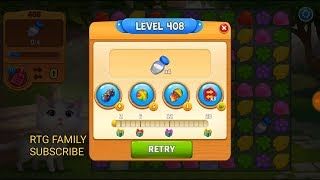 Lets play Meow match level 408 HARD LEVEL HD 1080P