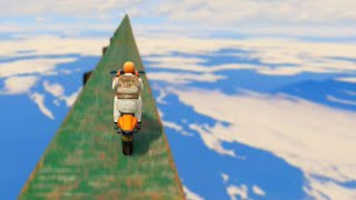 Crazy Sky Bike Race (GTA 5 Funny Moments)