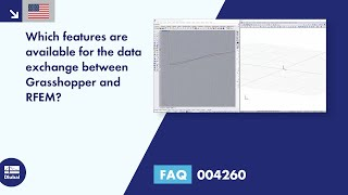 FAQ 004260 | Which features are available for the data exchange between Grasshopper and RFEM?