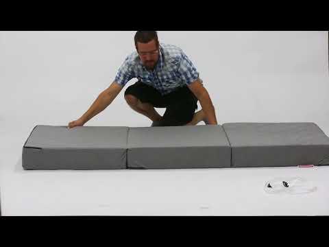 Gigapur 25465 Luxus Beinhart Klappmatratze für Erwachsene