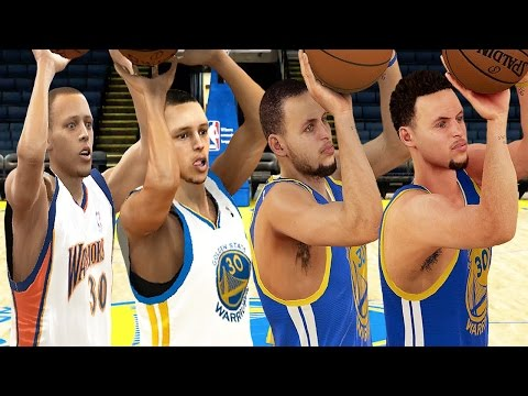 Stephen Curry - 3 Point Rating & Jumpshot Animation (NBA 2K10-NBA 2K16)