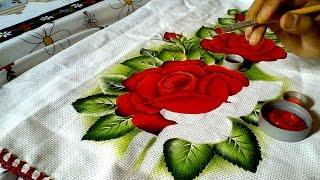 Ensinando a pintar rosas vermelhas