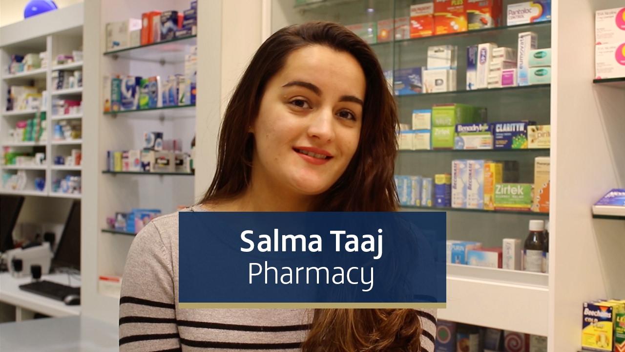 Salma Taaj, third year MPharmacy student from England