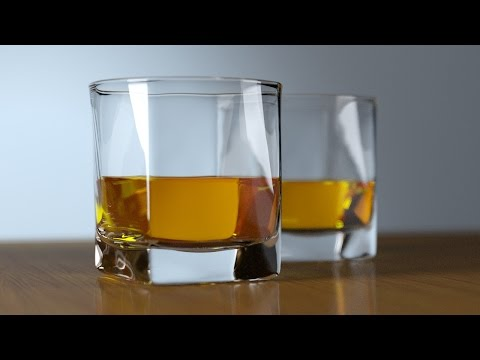 3ds max tutorial  creating a glass of whiskey tutorial