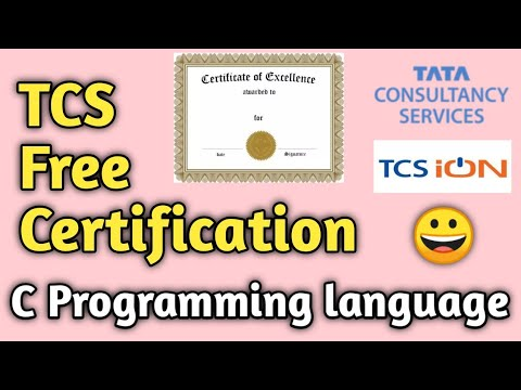 Tcs Free Certification Course | Introduction to Programming in C ...