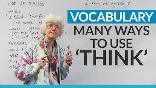 How to use the word THINK in English