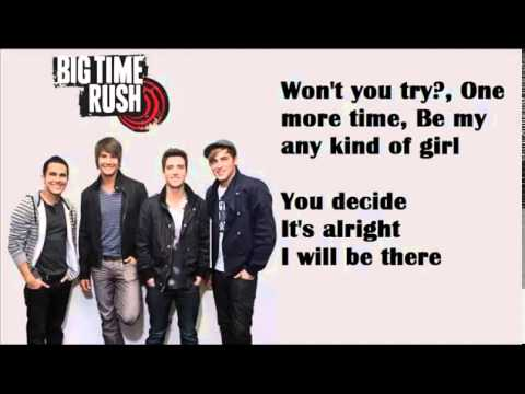 Any Kind Of Guy - Big Time Rush Lyrics